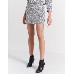 Current / Elliott denim skirt size 26 animal print